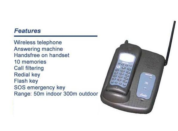 Cordless phone with answering machine PHILIPS NEC